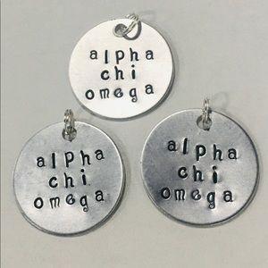 3 Alpha Chi Omega Sorority Charms